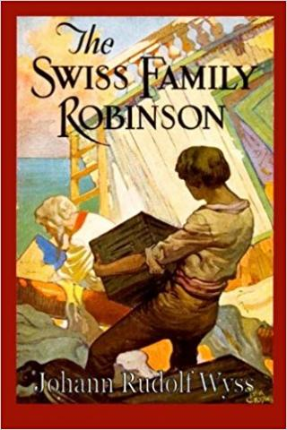 Book cover for Swiss Family Robinson.